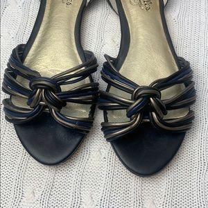 Seychelles Shoes - Seychelles peep toe woven knot peep toe flats